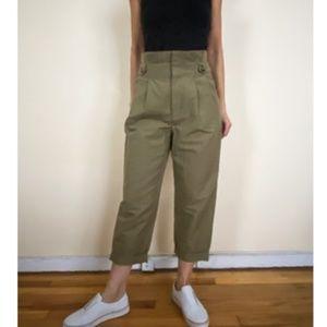 ZARA WOMEN GREEN PANTS SIZE XS
